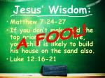 jesus wisdom