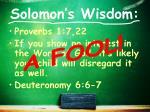 solomon s wisdom