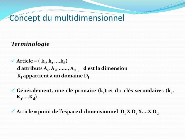 Concept du multidimensionnel1