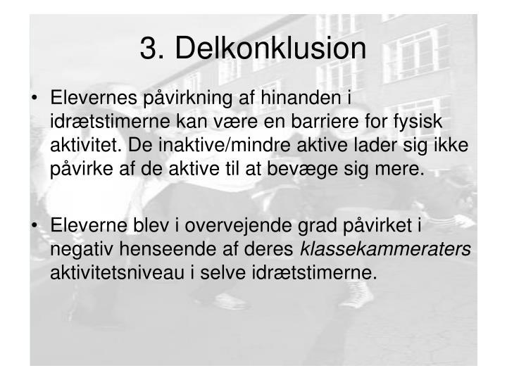3. Delkonklusion