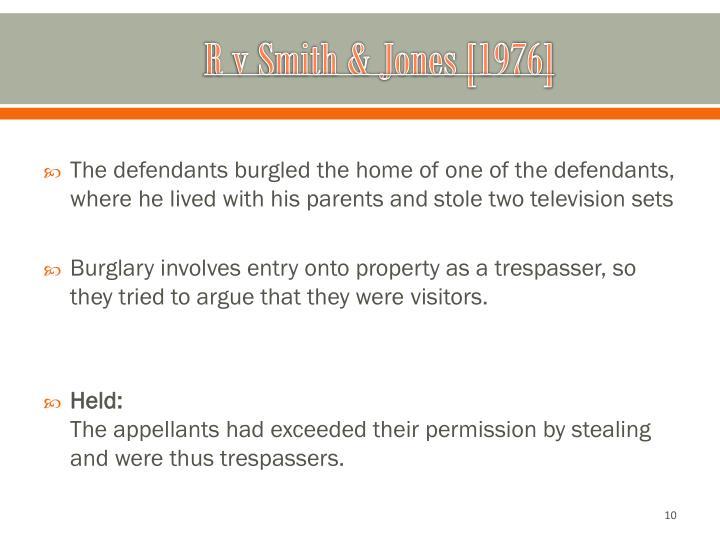 R v Smith & Jones [1976]