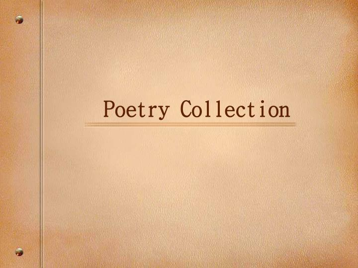 poetry collection n.