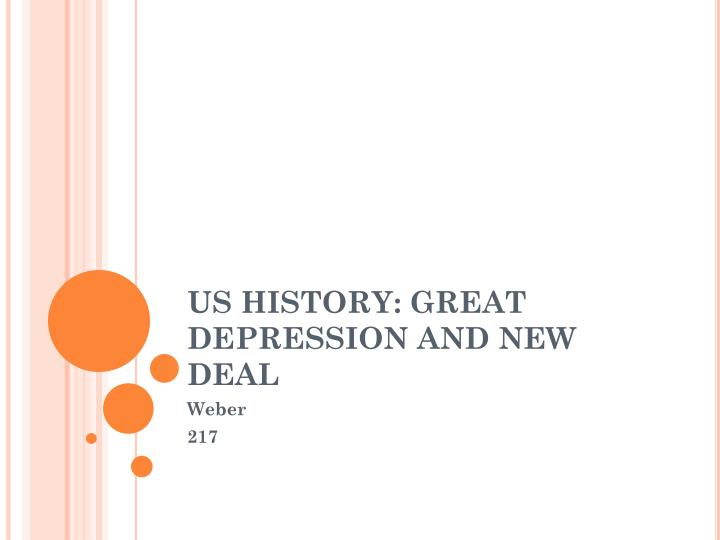 us history great depression and new deal n.