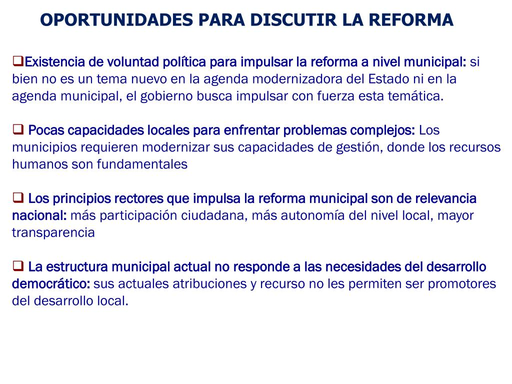 Ppt Ley De Plantas Una Nueva Estructura Municipal Para