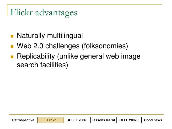 Flickr advantages