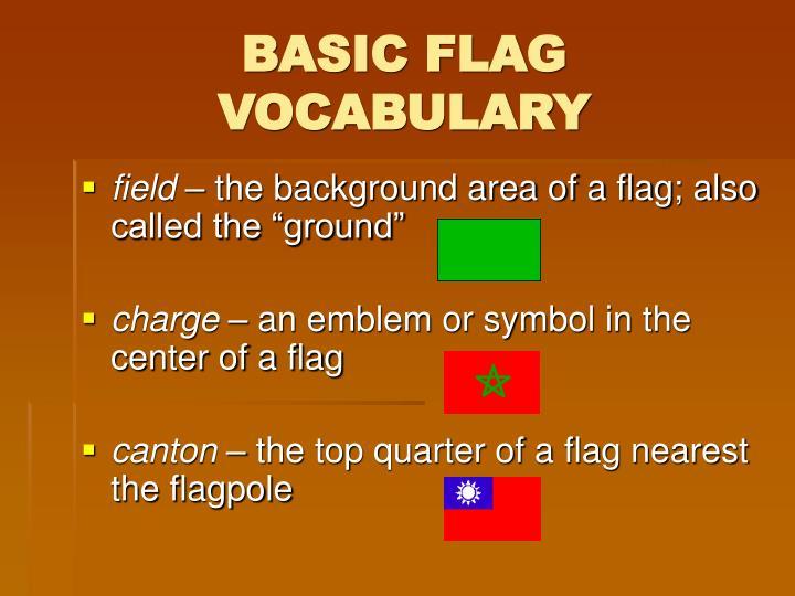 Basic flag vocabulary