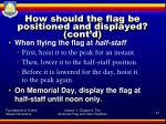 how should the flag be positioned and displayed cont d4