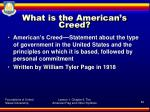 what is the american s creed
