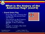 what is the history of the american flag cont d1