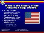 what is the history of the american flag cont d2