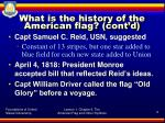 what is the history of the american flag cont d3