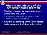 what is the history of the american flag cont d4