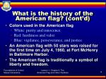 what is the history of the american flag cont d5