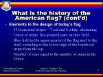 what is the history of the american flag cont d6