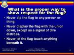 what is the proper way to show respect for the flag