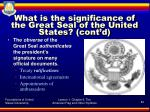 what is the significance of the great seal of the united states cont d