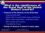 what is the significance of the great seal of the united states cont d1