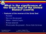 what is the significance of the great seal of the united states cont d2