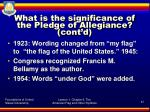 what is the significance of the pledge of allegiance cont d