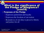 what is the significance of the pledge of allegiance cont d1