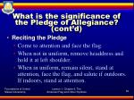 what is the significance of the pledge of allegiance cont d2