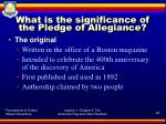 what is the significance of the pledge of allegiance