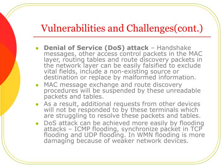 Vulnerabilities and Challenges(cont.)