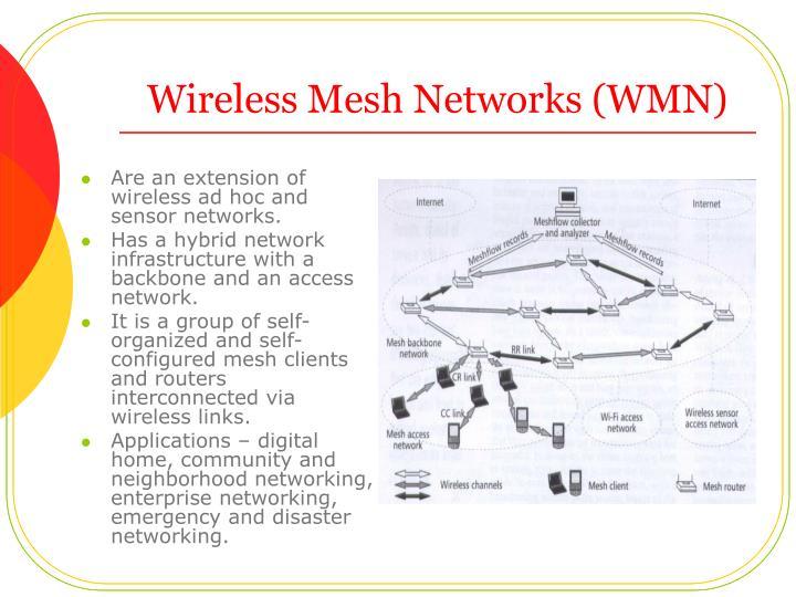 Wireless mesh networks wmn