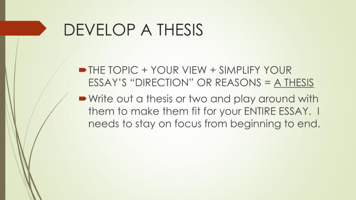 develop a thesis powerpoint When you should write a paper types of papers how referees evaluate papers  paper structure thesis structure saul greenberg motivation: why write.