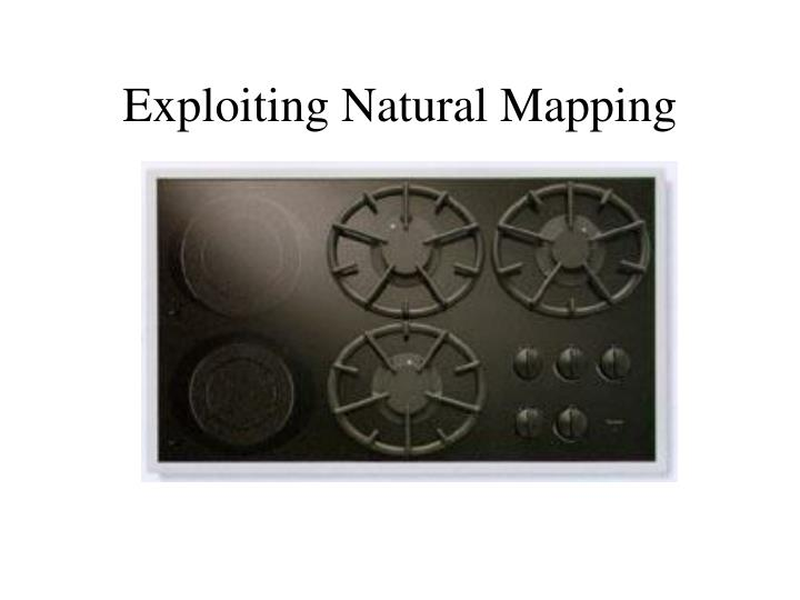 Exploiting Natural Mapping