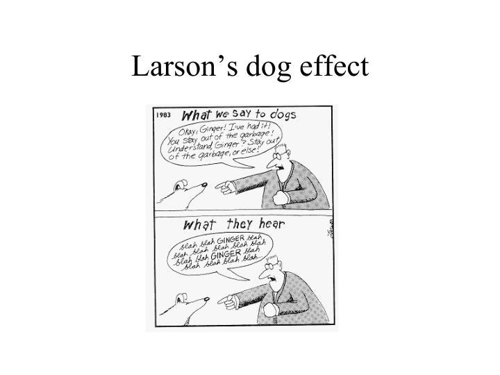 Larson's dog effect