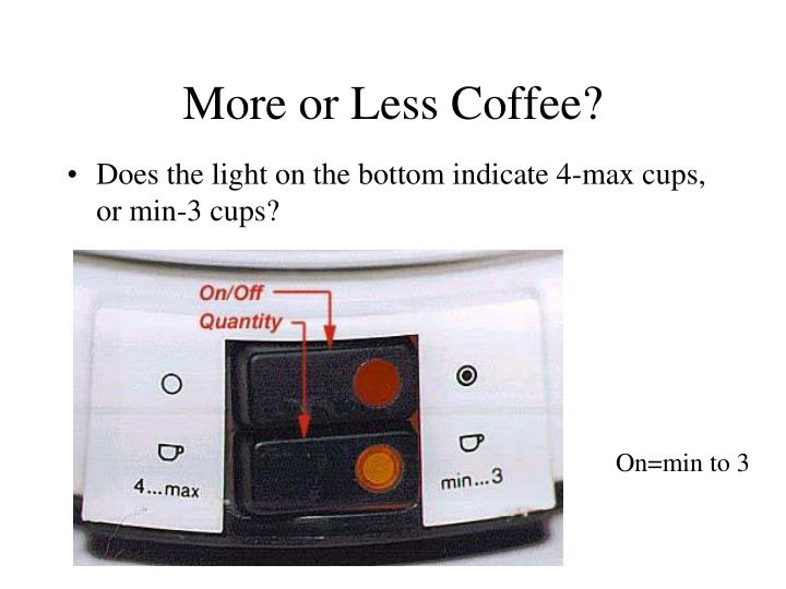 More or Less Coffee?