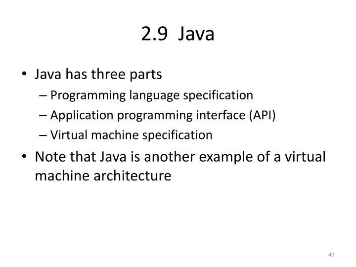 2.9  Java