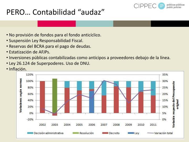 """PERO… Contabilidad """"audaz"""""""