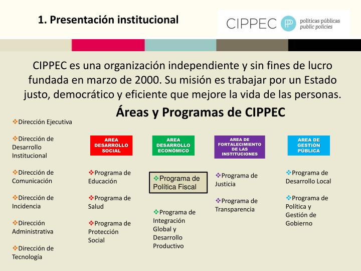 1. Presentación institucional