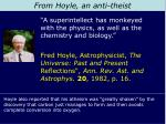 from hoyle an anti theist