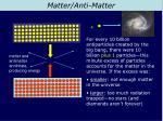 matter anti matter