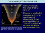 observability coincidence 1