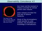 observability coincidence 3