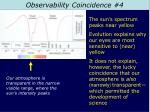 observability coincidence 4