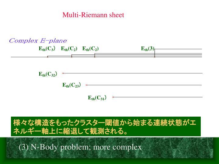 Multi-Riemann sheet
