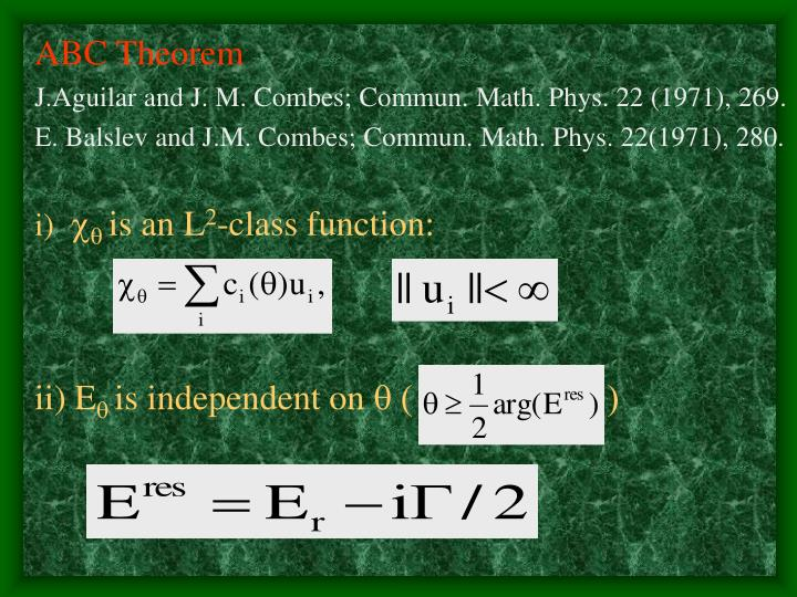 ABC Theorem