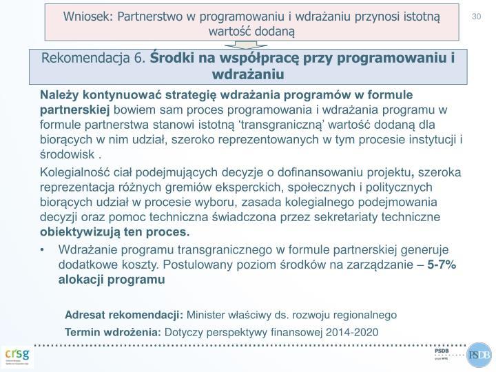 Wniosek: Partnerstwo w programowaniu i wdrażaniu przynosi istotną wartość dodaną