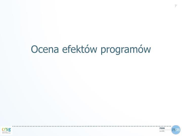 Ocena efektów programów