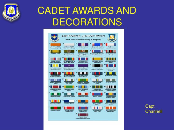 cadet awards and decorations n.