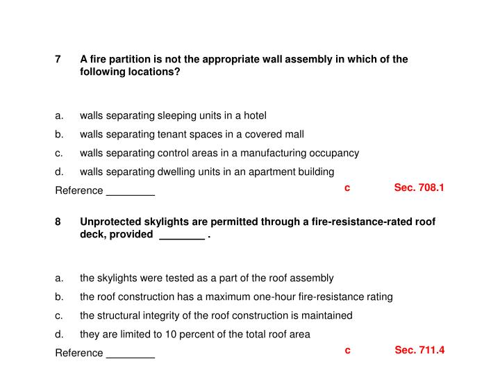 Fire Resistance Rated Assembly Identification : Ppt fire resistive construction nd part