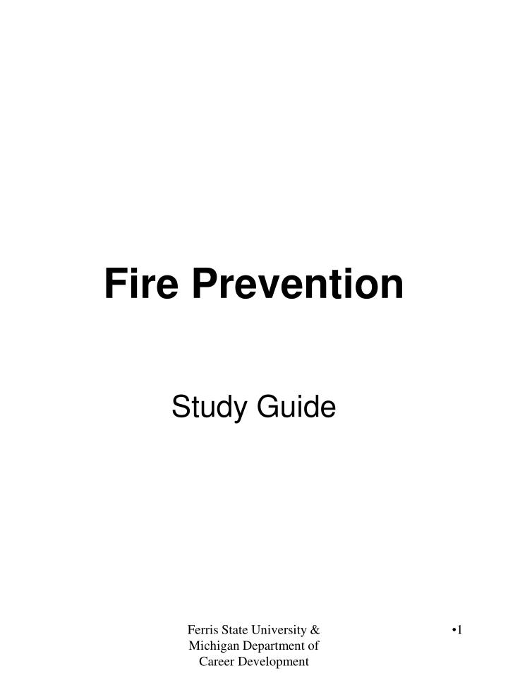 fire prevention n.
