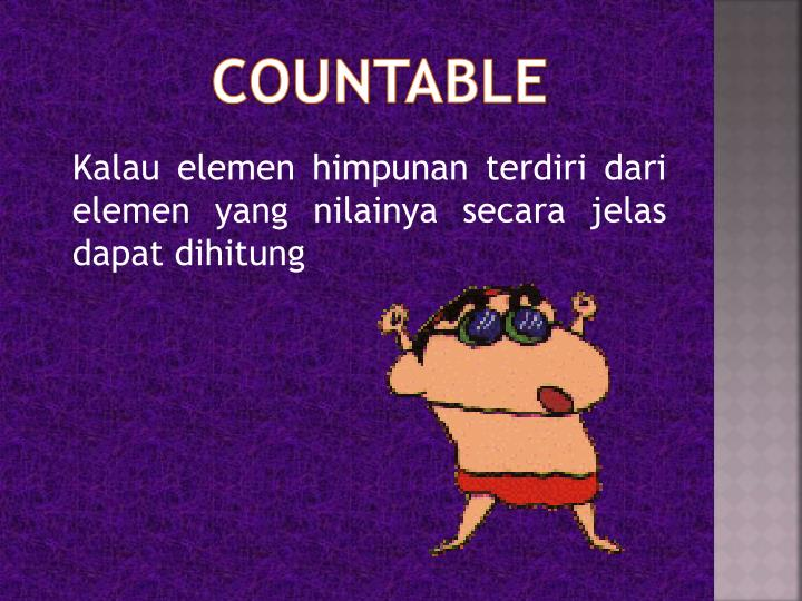 COUNTABLE