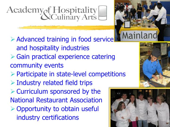 Advanced training in food service