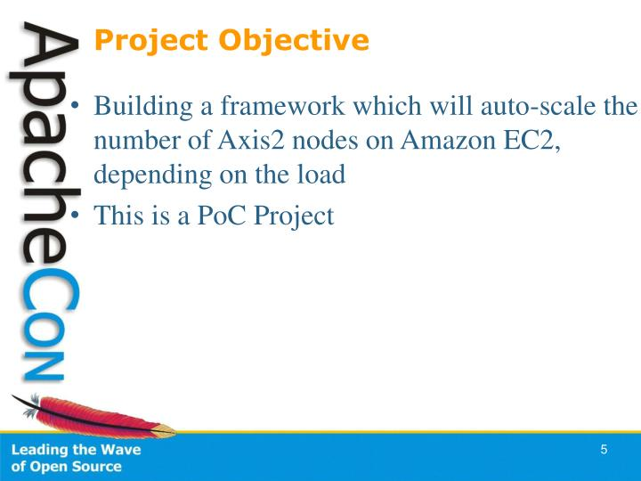 Building a framework which will auto-scale the number of Axis2 nodes on Amazon EC2,  depending on the load